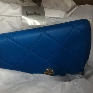 Authentic Tory Burch Royal Blue Fold~Zip Wallet